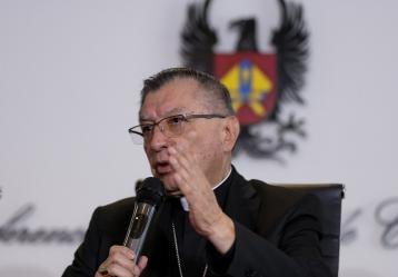 Monseñor Óscar Urbina, presidente Conferencia Episcopal.