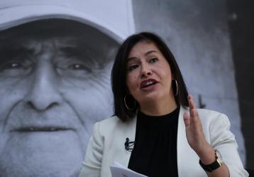 Claudia Vaca, vocera del comité de escogencia de la JEP. Foto: Colprensa.Septiembre de 2017.