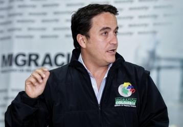 El director general de Migración Colombia, Christian Krüger. Foto: Colprensa. Agosto 2017.
