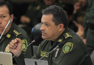 General Jorge Nieto, director de la Policía Nacional. Foto: Colprensa. Abril 2018.