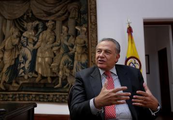 Foto: Vicepresidente Óscar Naranjo / Colprensa, febrero 2018.