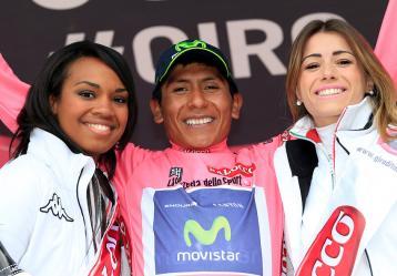 El ciclista boyacense Nairo Quintana. Foto: Colprensa. Mayo 2017.