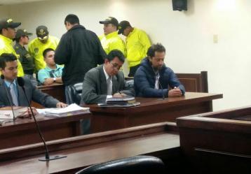 Rafael Uribe en audiencia. Foto: Colprensa