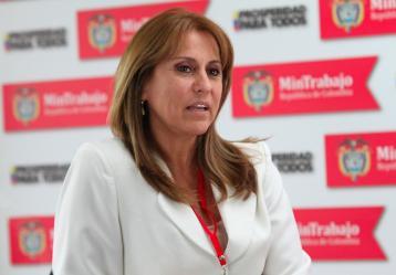 Griselda Restrepo, ministra de Trabajo. Foto: Ministerio de Trabajo.