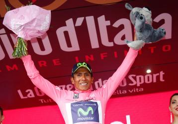 El ciclista boyacense Nairo Quintana. Foto: Colprensa - Movistar.