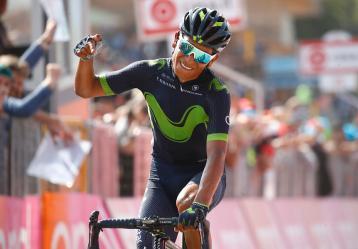 El colombiano Nairo Quintana en el Giro de Italia. Foto: Colprensa.