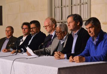 Comisión de Seguimiento, Impulso y Verificación a la Implementación del Acuerdo de Paz. Foto: Colprensa. Mayo 2017.