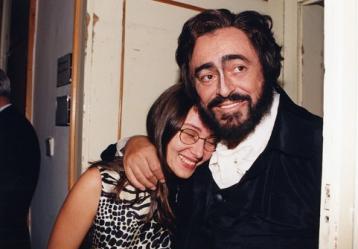 Foto: Luciano Pavarotti junto a su esposa Nicoletta Mantovani. Colprensa