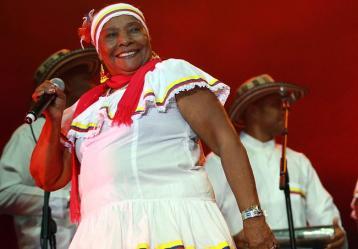 Petrona Martínez, embajadora del folclor colombiano ante el mundo. Foto: Colprensa. Mayo 2017.