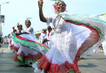 Comparsa de cumbia Carnaval de Barranquilla. Foto: Colprensa