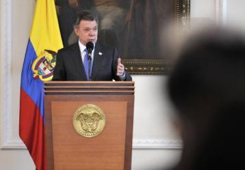 El Presidente de la República, Juan Manuel Santos Foto: Twitter @infopresidencia