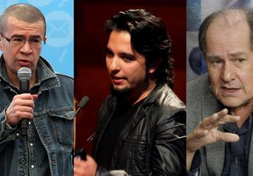 Los directores de cine colombiano: Dago García Iván Gaona y Jorge Alí Triana.