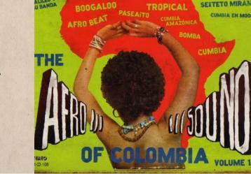 Logo original de Discos Fuentes y portada del compilado 'The Afrosound of Colombia'.