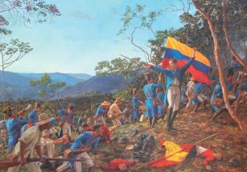 Imagen: 'Batalla de Chorros Blancos' , Juan Munera Ochoa