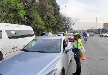 Foto: Policía Transito Bogotá