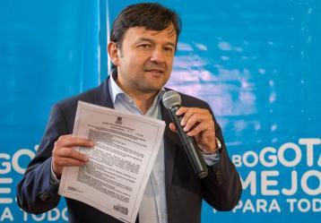 El secretario de Movilidad, Juan Pablo Bocarejo. Foto: http://www.bogota.gov.co.