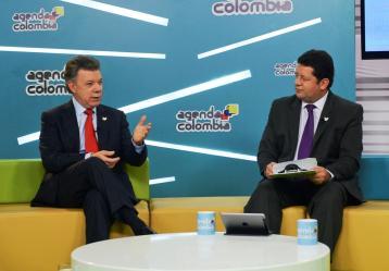 El presidente Santos en el programa Agenda Colombia