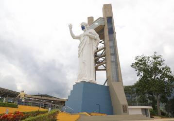 Monumento del Santísimo con tapabocas, Foto: Angélica Blanco