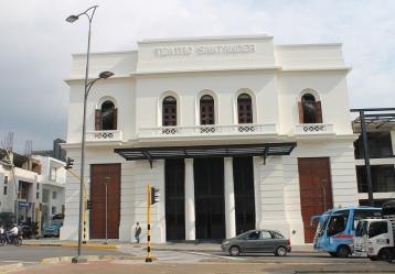 El Teatro Santander mide 3.200 metros cuadrados y podrá recibir a más de 1.100 asistentes en cada presentación.  Foto: Boris Tejada.