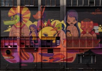 Foto: Grafiti Eva Bracamontes en Distrtio Grafiti 2019 -  Secretaría de Cultura, Recreación y Deporte de Bogotá.
