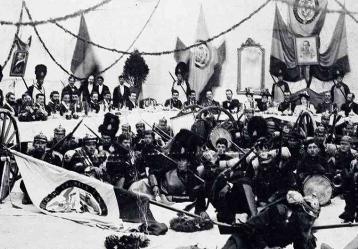 Banquete en tiempos de Guerra. Henry Duperly. 1900 Foto: Jaime de Narváez, Bogotá.