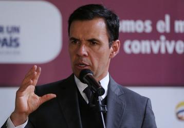 Guillermo Rivera, ministro del Interior, rechazó el atentado que cometió el ELN en Norte de Santander / Foto: Colprensa.