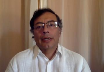 Foto: Video cuenta de Twitter de Gustavo Petro.