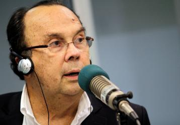 Hernán Peláez Restrepo, reconocido periodista deportivo en Colombia. Foto: Colprensa. Febrero 2018.