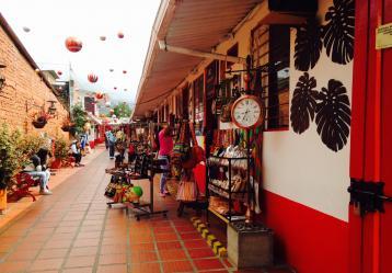 Calle de Salento (Quindío), uno de los municipios más visitado por los extranjeros en Colombia. Foto: Jenny González