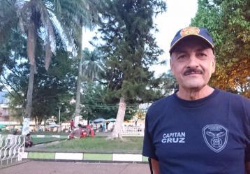 José Alfonso Cruz, jefe de Bomberos de Mocoa. Foto. Juanita Restrepo.