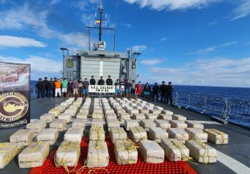 Foto cortesía: Armada Nacional y Policía Nacional.