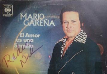 Portada del disco 'El amor es una semilla' de Mario Gareña en archivo sonoro de Radio Nacional de Colombia.