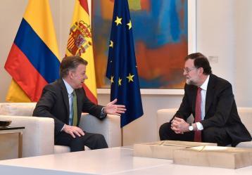 Juan Manuel Santos y Mariano Rajoy / Foto: Colprensa.