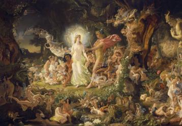 La disputa entre Oberón y Titania, de Joseph Noel Paton.