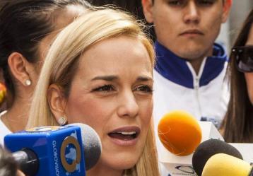 Lilian Tintori, esposa del líder opositor venezolano, Leopoldo López.