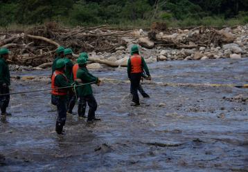 Según el DNP, el 39% de los habitantes de Santander viven en zonas de riesgo y están expuestos a desastres naturales. Foto: Colprensa.