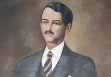 Retrato de Luis Felipe de la Rosa, conservado en la antigua casa del poeta en Pasto. Foto: Sandra Erazo.