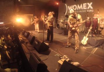 Tribu Baharú durante su presentación en el Womex 2014 Foto: Archivo