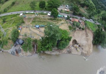 Vista áerea de la mina de Riosucio, Caldas. Foto: La Patria de Manizales