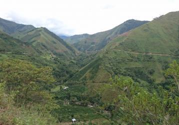 Vista panorámica de la zona sur del Tolima. Foto: Juan Ricardo Pulido.