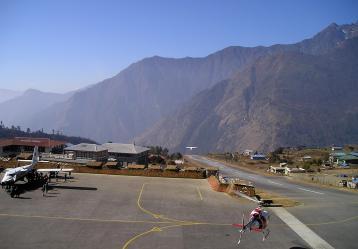 Imagen del Aeropuerto de Lukla en Nepal