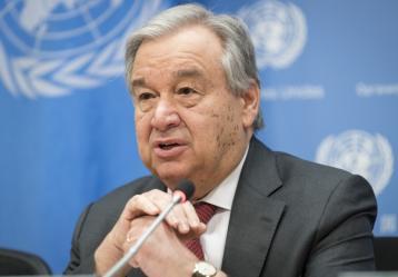 Secretario general de la ONU, Antonio Guterres. Foto: Twitter ONU