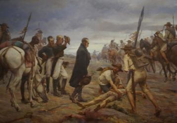 'Paso del Ejército del Libertador por el Páramo de Pisba', pintura del antioqueño Francisco Antonio Cano Cardono.