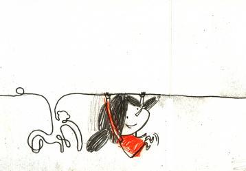Ilustración del libro 'El lápiz'  2011 de Paula Bossio.