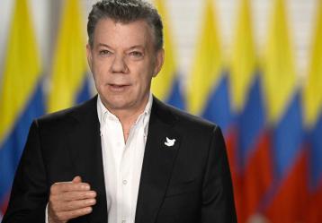 Presidente Santos durante su alocución. Foto: Presidencia de la República.