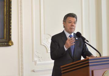 El Presidente Juan Manuel Santos. Foto: Archivo Juan David Tena - SIG