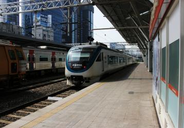 Imagen del sistema de trenes coreanos