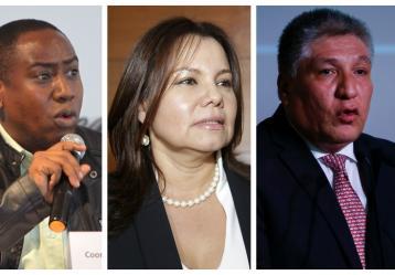 Leyner Palacios, Fabiola Perdomo y Sigifredo López. Fotos: Colprensa.