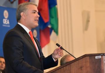 Duque en OEA: La noche de la dictadura en Venezuela no será eterna