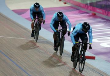 Ciclistas Rubén Darío Murillo, Kevin Quintero y Santiago Ramírez / Foto: Comité Olímpico Colombiano